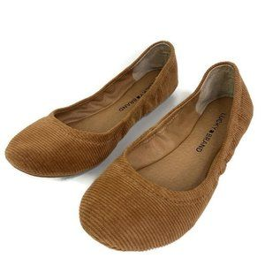 Lucky Brand Ballet Flats Shoes Brown Round Toe New